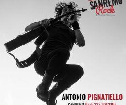 Locandina: Antonio Pignatiello alle finali regionali di Sanremo Rock