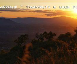 Locandina: Monte Acuziano: tramonto e luna piena