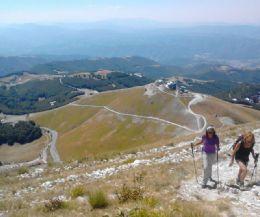 Locandina: Tramonto e Torce dal Monte Terminilletto 2108 m.