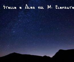 Locandina: Tramonto, stelle, telescopi ed alba sul Monte Elefante