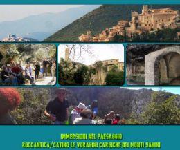 Locandina: Roccantica Catino: le voragini carsiche dei monti sabini