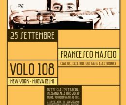 Locandina: Francesco Mascio. Classic, electric guitar & electronics