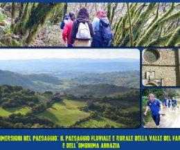 Locandina: Il paesaggio dell'Abbazia di Farfa e la selvaggia cornice delle Gole del Farfa