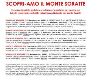 Locandina: SCOPRI-AMO IL MONTE SORATTE 2, 9, 22, 29,30 novembre 2014