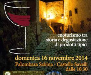 Locandina: IL GIORNO DI BACCO XII Edizione Domenica 16 Novembre 2014 Palombara Sabina (Rm)