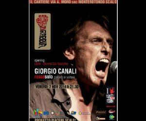 Locandina: GIORGIO CANALI live a Monterotondo Scalo (Rm)