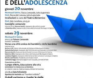 Locandina: Giornata dei Diritti dell'Infanzia e dell'Adolescenza