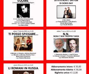 Locandina: Stagione teatrale  2015 al Teatro Manlio