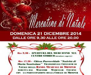 Locandina: Mercatino di Natale a Mompeo