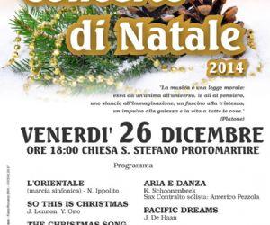 Locandina: CONCERTO di NATALE 2014