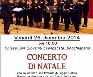Locandina: Concerto di Natale a Bocchignano