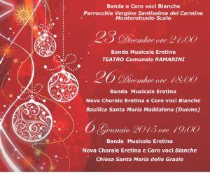 Locandina: Concerti Natalizi a Monterotondo