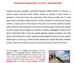 Locandina: BRINDISI DI NATALE SULLA VETTA DEL SORATTE