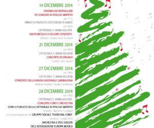 Locandina: Concerti di natale a Poggio Mirteto