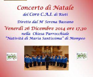 Locandina: Concerto di Natale del Coro CAI di Rieti