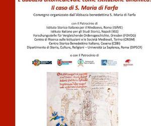 Locandina: Convegno internazionale a Farfa