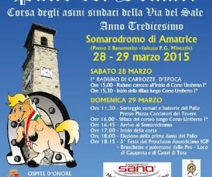 Locandina: Palio dei somari Amatrice (Rieti) 28-29 marzo