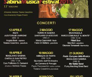 Locandina: SABINA MUSICA FESTIVAL 2015