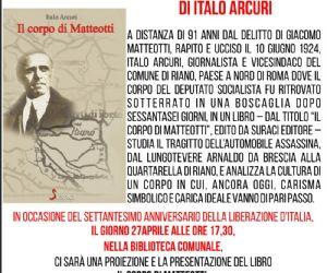 """Locandina: """"IL CORPO DI MATTEOTTI"""" DI ITALO ARCURI"""