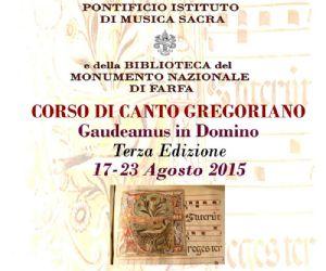 Locandina: Corso di canto Gregoriano 2015