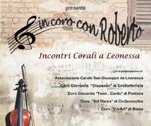 """Locandina: Rassegna """"In coro con Roberto"""""""