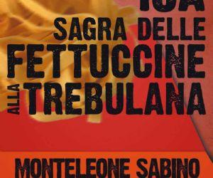 Locandina: Sagra delle fettuccine alla Trebulana