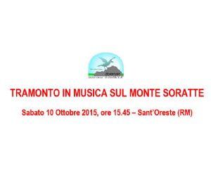 Locandina: Tramonto in musica sul Monte Soratte
