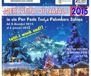 Locandina: Mercatini di Natale 2015 a Palombara Sabina