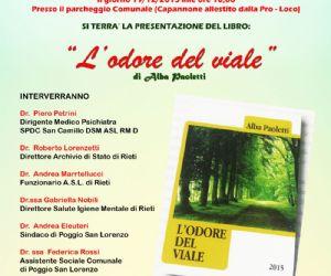 """Locandina: Presentazione del libro """"L'ODORE DEL VIALE"""" di Alba Paoletti"""