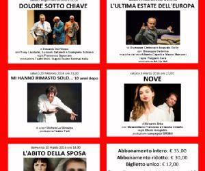 Locandina: STAGIONE TEATRALE 2016 al TEATRO MANLIO di Magliano Sabina