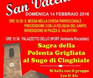 Locandina: Festa di San Valentino a Roccantica (Ri) e Sagra della Polenta Grigliata