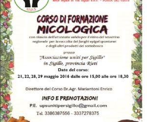 Locandina: Corso di formazione micologica