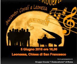 """Locandina: """"IN CORO CON ROBERTO"""""""