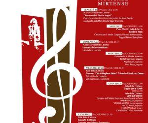 Locandina: Settimana musicale Mirtense