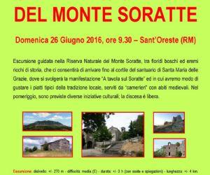 Locandina: SAPERI & SAPORI DEL MONTE SORATTE - NATURA, TRADIZIONE ED ENOGASTRONOMIA