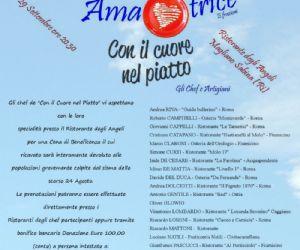 Locandina: Cena di Gala per Amatrice