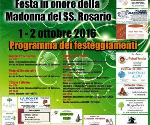 Locandina: Festa della Madonna del SS. Rosario