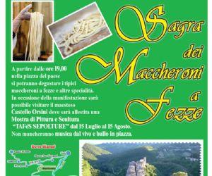 Locandina: Sagra dei Maccheroni a fezze, XVI edizione