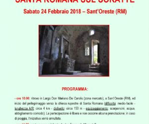 Locandina: Santa Romana sul Soratte: etnografia di un culto