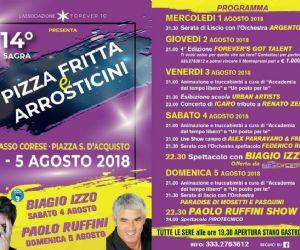 Locandina: 14° Sagra Pizza Fritta e Arrosticini