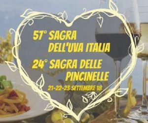 Locandina: 57ª Sagra dell'Uva Italia e 24ª Sagra delle Pincinelle