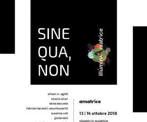 Locandina: Sine Qua, Non. Contemporary textile and fiber art project