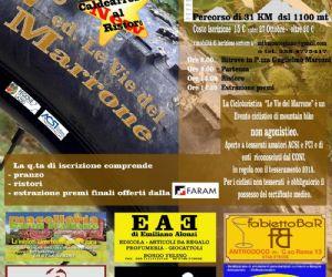 """Locandina: Cicloturistica """"Le Vie del Marrone"""""""