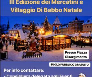 Locandina: Mercatini e Villaggio di Babbo Natale, III edizione