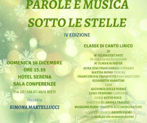 Locandina: Parole e musica sotto le stelle