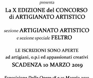 """Locandina: X edizione del Concorso artigianale """"il sapere delle mani"""""""