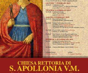 Locandina: Solenni festeggiamenti in onore di S. Apollonia V.M.