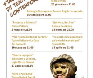 Locandina: La Stagione di Teatro Contemporaneo e la Stagione di Teatro Ragazzi
