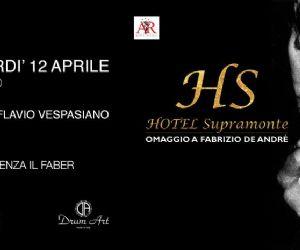 Locandina: Hotel supramonte in concerto. 20 anni senza Faber tour 2019