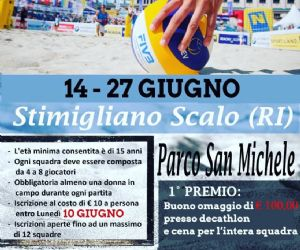 Locandina: Torneo Beach Volley 3 vs 3 misto